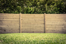 Fence On Lawn