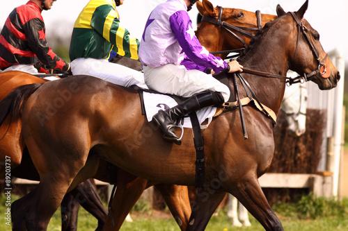 Cuadros en Lienzo Pilotos de carreras de caballos