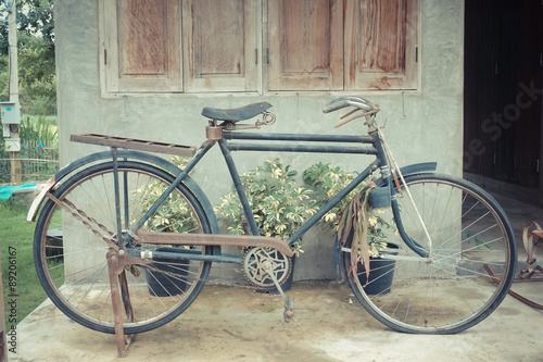 old bike with filter effect retro vintage style