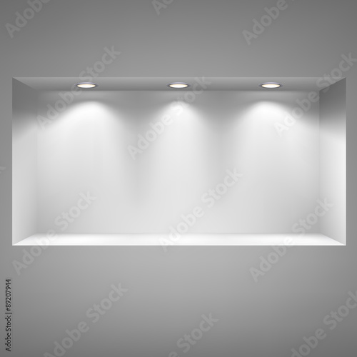 Fotomural Gray niche for presentations.