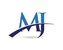 MJ Logo Letter Swoosh