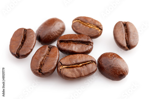 Fotobehang koffiebar roasted coffee beans