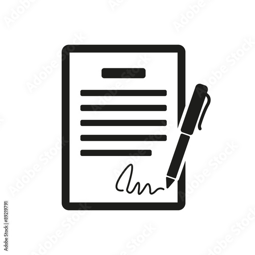 Photo The contract icon