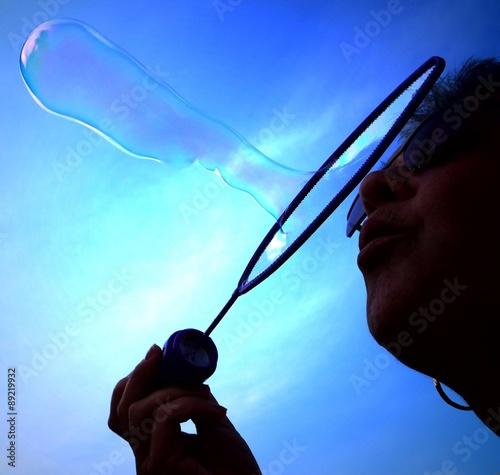 Seifenblasen im Detailansicht