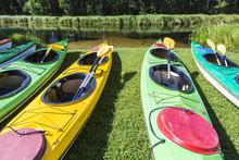 Colorful Fiberglass Kayaks Tet...