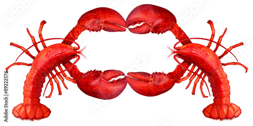 Lobster Blank Sign Canvas Print