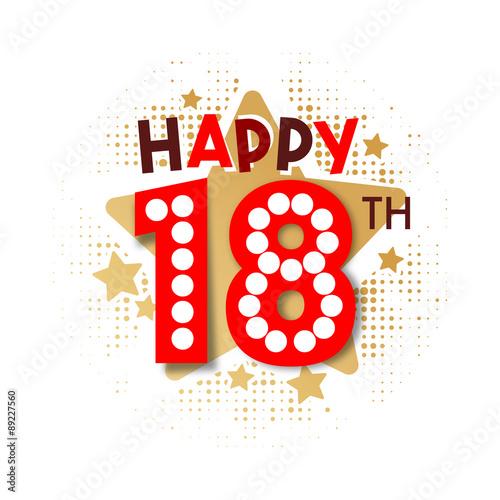Photographie  Happy 18th Birthday