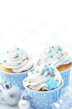 Vanilla Christmas Cupcakes