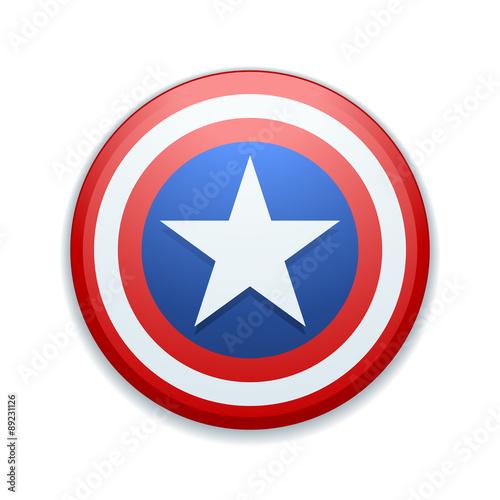USA star button Canvas Print