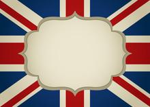 Blank Frame On United Kingdom Insignia
