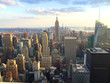 New York vista al tramonto da top of the rock
