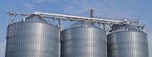 Industrial Silos Against The  Blue Sky