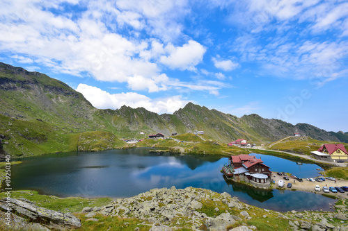 Spoed Fotobehang Reflectie Mountain lake, high altitude,