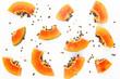 canvas print picture - Papaya fruit background