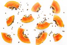 Papaya Fruit Background