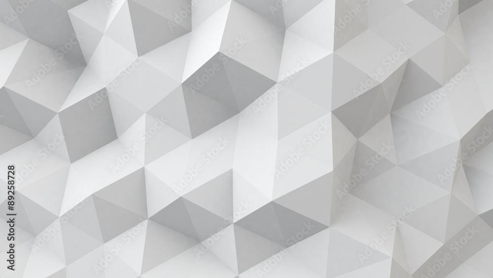Fototapeta white polygonal geometric surface