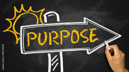 purpose concept on signpost Canvas Print
