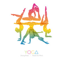 Woman Doing Yoga Asanas