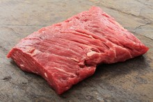Raw Uncooked Brisket Flat Iron Steak