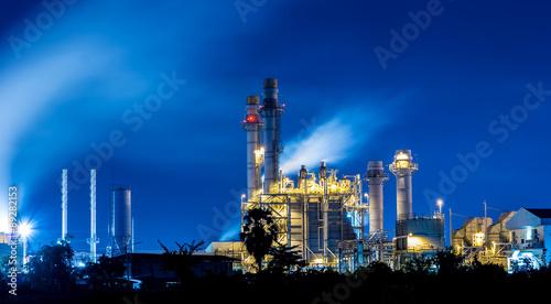 Staande foto Industrial geb. Twilight photo of power plant