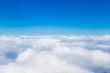 Leinwandbild Motiv Blue sky with white clouds, aerial photography