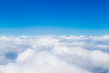 Blue Sky With White Clouds, Ae...