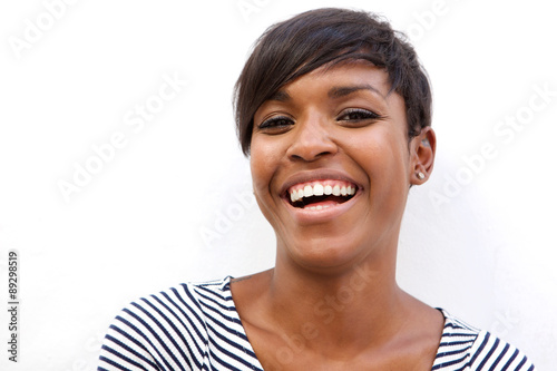 Valokuva  Beautiful african american woman laughing