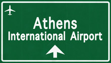 Athens Greece Airport Highway Sign