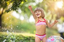 Cute Little Girl Having Fun Outside
