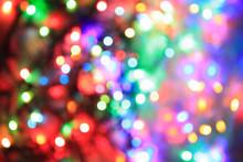 Color Christmas Lights Backgro...