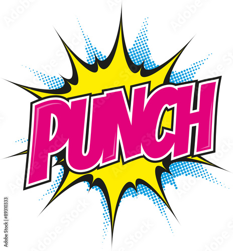 Acrylic Prints Pop Art punch pop art cartoon explosion bunt