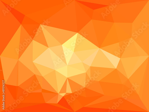Vector Polygonal Geometric Abstract Background In Orange