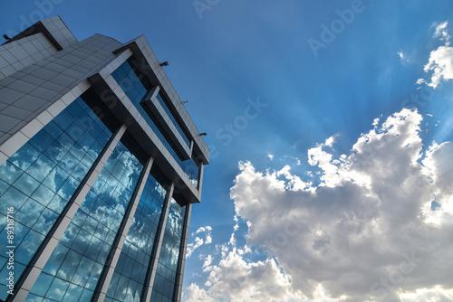 Printed kitchen splashbacks Cat Tower&gökyüzü