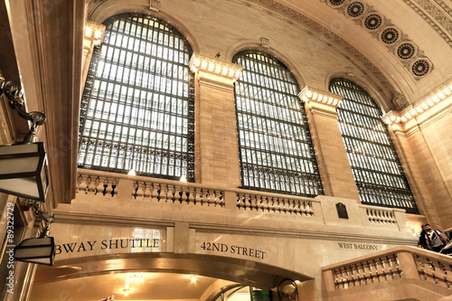 Photo  Grand Central Terminal main lobby architectural detail Midtown Manhattan, New Yo