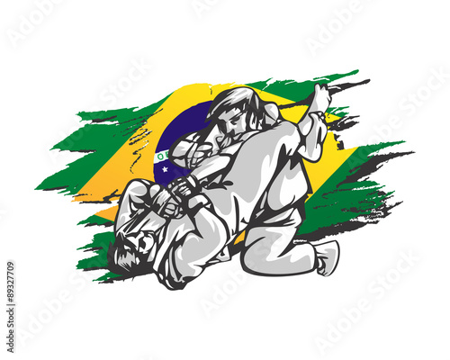 Fotografie, Obraz  brazilian jiu jitsu