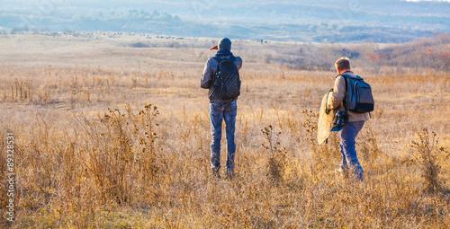 Fotografía  Biologists in the field