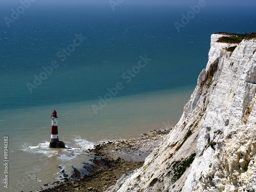 Fotografie, Obraz  Beachy Head Lighthouse, Seven Sisters cliffs