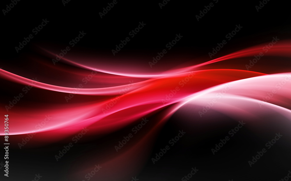 Fototapeta abstract red light waves background