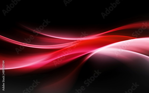 abstract red light waves background