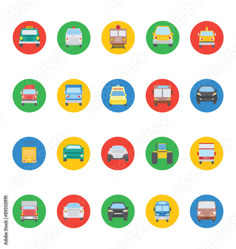 Photo  Transports Vector Icons 2