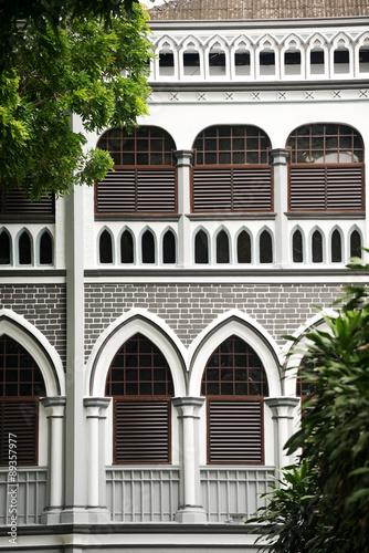 Photo  Colonial Architecture Detail, Singapore.