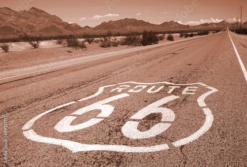 Foto op Canvas Route 66 Route 66 road sign