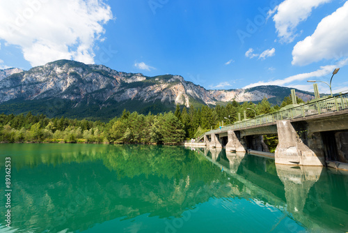 Barrage Old Dam on the Gail River - Austria / Ancient dam on the Gail river in Arnoldstein - Carinthia Austria