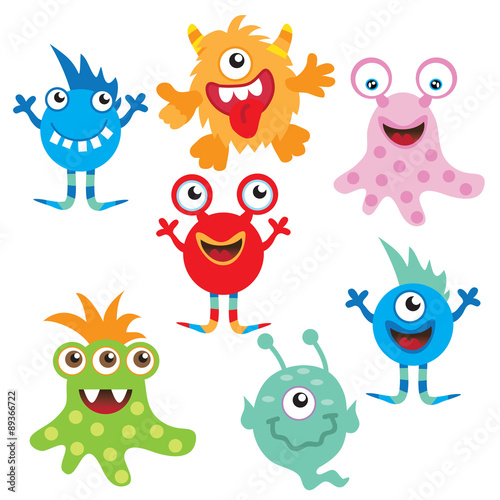 fototapeta na drzwi i meble Monster vector illustration