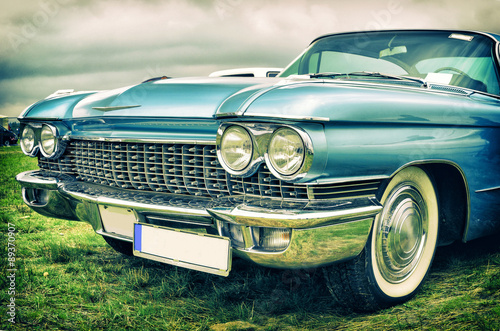 Spoed Foto op Canvas Vintage cars old american car in vintage style