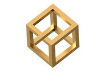 Impossible Cube Optical Illusion