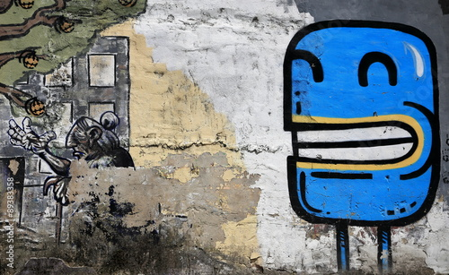 Photo sur Toile Bestsellers blue picture-graffiti-europe