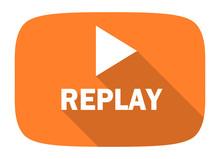 Replay Flat Design Modern Icon