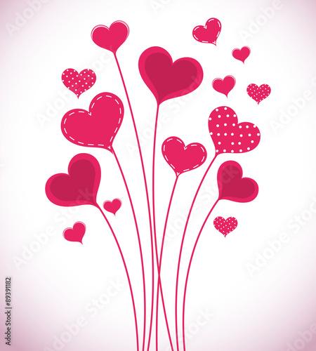 Fototapeta Romantic love design. obraz na płótnie