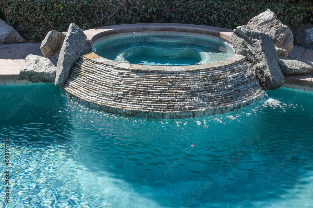 Hot Tub in Swimming Pool Foto, Poster, Wandbilder bei ...